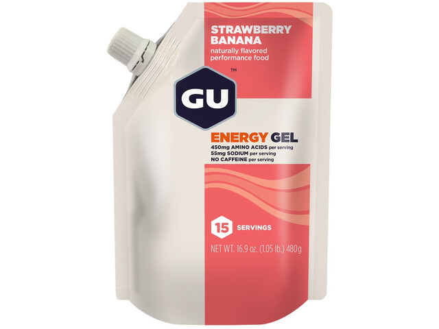 GU Energy Gel Bulk Pack 480g, Strawberry Banana (2019) | Energy gels